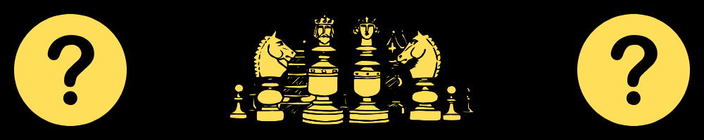 "A graphic with chess pieces and question marks, symolizing the question: ""What is content strategy?"""