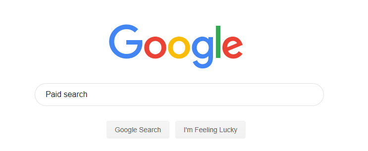 "Image of someone googling ""paid search"""